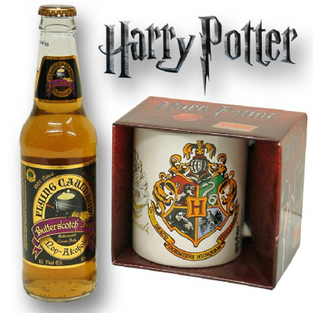 Harry Potter Hogwarts Crest Mug with/without a Bottle of Butterscotch Beer